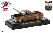 "M2 Machines 1:64 Chevy Silverado 1975 ""The Brown Bagger"" Suare Body Truck MJS29"