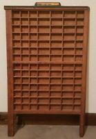 Vint Wood Printers Type Set Tray Drawer Miniature Display Shadowbox Shelf 27x17