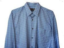 HART SCHAFFNER MARX SHIRT Light Blue L  16.75 X 34.5  44 suit sz $200 Italy