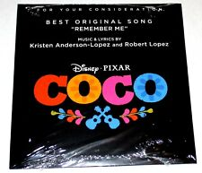 RARE Sealed New COCO Best Original Song CD REMEMBER ME For Your Consideration