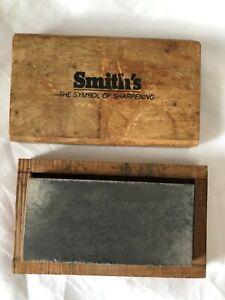 Smith's Soft Arkansas Stone Vintage Sharpening Stone Smiths Oilstone Whetstone