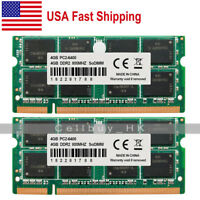 US New 8GB 2x4GB PC2-6400 DDR2-800MHz Memory For Dell Latitude E6400 E6500 D630
