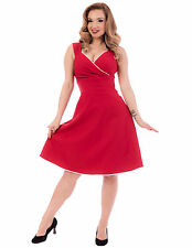 STEADY CLOTHING RED DIVA SWING DRESS - 1950s ROCKABILLY PIN UP GIRL - 3X