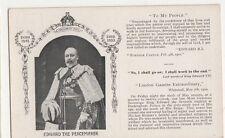 Edward The Peacemaker, Tuck 2183 Postcard, B385