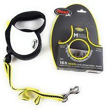 Flexi Dog Leash Retractable 16ft up to 44lbs Reflective Sticker Pet Medium Size