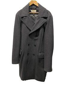Michael Kors Mens Overcoat Charcoal/Dark Grey Sz 48L Excellent Condition Coat