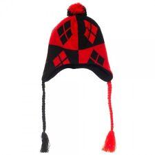 Harley Quinn Red & Black Laplander Hat Bioworld Winter Beanie Hat SALE