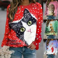 Womens Long Sleeve Sweatshirt O Neck Pullover Lady Casual T Shirt Blouse Tops
