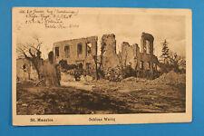 Alsace Bas-Rhin Alsace 67 AK CPA St. Maurice 1916 Chateau WARCQ ruines guerre WK