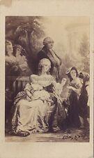 Marie Antoinette à Trianon Photo d'après peinture Gustav Schauer Berlin Cdv