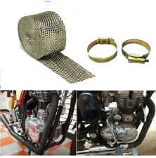 Royal Enfield Steel Grey Silencer Wrap With 2 Clips Heat cooling control .