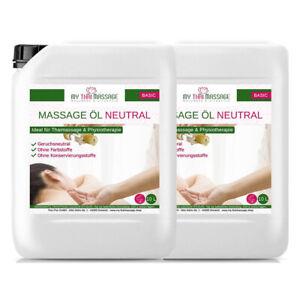 Kitama Massage-Öl neutral 2 x 10L (Liter) Kanister Massage Physiotherapie