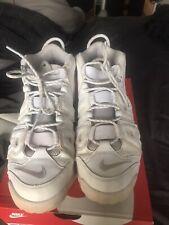 Nike Air More Uptempo 96 Triple All White Pippen Mens Size 10.5 Rare 921948-100