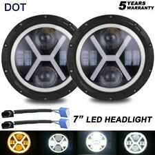 7inch Round LED headlight Halo Projector Headlight for Jeep Wrangler JK Rubicon