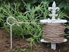 Chic Antique Garten Pflanzschnur mit Spieß Lilie Gusseisen Shabby Brocante