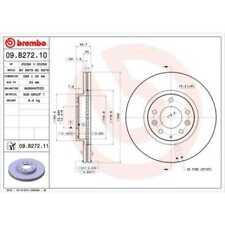 BREMBO 2x Bremsscheiben Innenbelüftet 09.B272.10