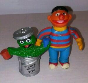 Vtg Tara Toy Sesame Street Muppets Figure Lot Ernie Oscar The Grouch 1985