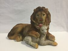 Resin Lion And Lamb Statue