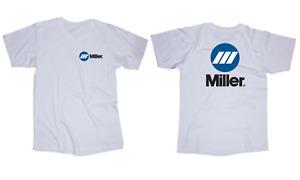 Miller Welding logo white t-shirt
