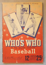 1944 WHO'S WHO IN THE MAJOR LEAGUES: BASEBALL John Carmichael STAN MUSIAL