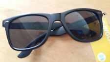 Unisex Black Plastic Framed Retro Sunglasses New