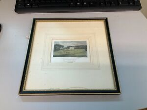 Framed Antiquarian Print of  Hanworth Hall Norfolk purchased from Peter Crowe