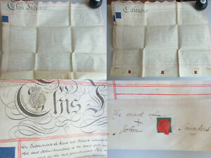 Pergament-Urkunde (English Parchment) 1829: Mortgage IN Brierley Hill /2 Sheet