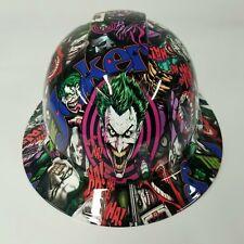 New Full Brim Hard Hat Custom Hydro Dipped In The Joker Haha Full Color Sick New