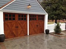 8x7 Richmond Design Spruce Sectional Overhead Door
