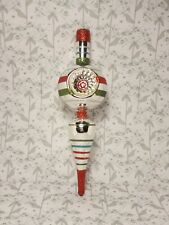 """VINTAGE LARGE TREE TOPPER CHRISTMAS TREE BAUBLE DECORATION 9""""INCHES"""