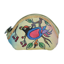 Swank Bags Hand Painted Coin Pouch - Bird in Tree SB134