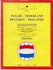 Programme / Programma Belgium v Holland 30-09-1964 friendly