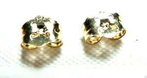 14KT YELLOW GOLD SCREW OFF REPLACEMENT BACKS (2) GUARANTEED - FREE SHIPPING!