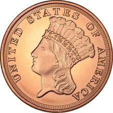1 oz Copper Round - Indian Princess