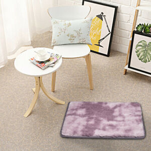 Fluffy Rugs Anti-Skid Shaggy Area Rug Dining Room Carpet Floor Mat Home