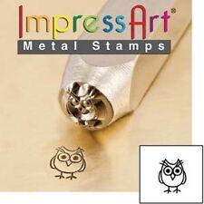 Metal stamp, punch, hootie, owl, bird, 6mm, metal jewellery stamping