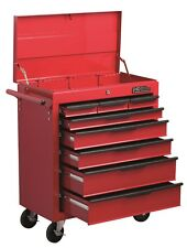 HILKA TOOL TROLLEY CHEST NEW RED METAL MOBILE STORAGE CABINET BOX CART ROLL CAB