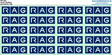 RAG-Logos Blau, TOP Siebdruck Kreye-Decals, 120-5480