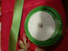 7m,80  ruban  satiné vert pré   ,chapeau ,ruban cheveux poupées ,petite fille