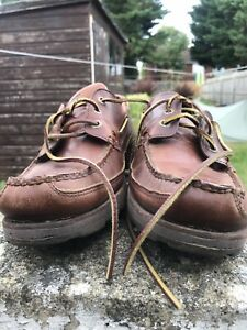 Sebago Vershire Three Eye Deck Shoes Size UK9 - Brilliant Condition