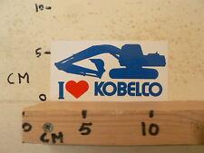 STICKER,DECAL KOBELCO I LOVE KOBELCO DRAGLINE,GRAAFMACHINE A