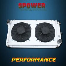 Aluminum Radiator+Fan Shroud For Ford Falcon EA EB ED Fairmont NA NC V6 V8 88-94