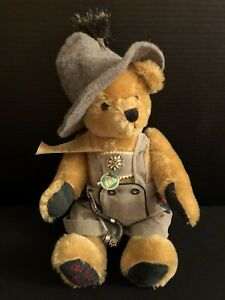 """Rare Hermann's Limited Edition Old Tyrolean Stuffed Animal Bear 15"""" Made Germany"""