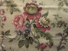 "Unused Vintage Sanderson Linen Union Interiors Fabric 'Kykenham' 35"" x 54"""