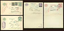 Sweden AE32 Postal Stationery cards 1917-1923 Service cancel (4 pcs)
