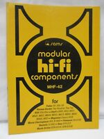 Sams Modular Hi-Fi Components Service Data MHF-42 KLH Magnavox Realistic Fisher