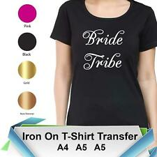 Personalized Hen Do Party Iron On Heat Transfer T Shirt Vinyl Bride Crew 7719