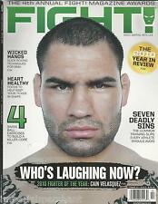 Fight magazine Cain Velasquez MMA boxing tips Swiss ball exercises Healthy foods
