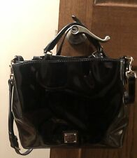 💖 Dooney and Bourke Small Brenna Barlow Black Patent Handbag Excellent!