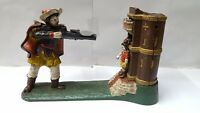 ANTIQUE / VINTAGE STYLE CAST IRON MECHANICAL WILLIAM TELL MONEY BOX BANK